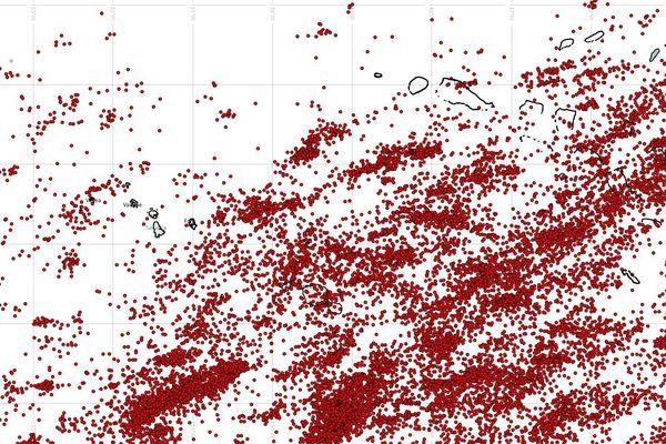 5.000 impacts de foudre sur l'archipel de la Société durant le week-end du 5 décembre