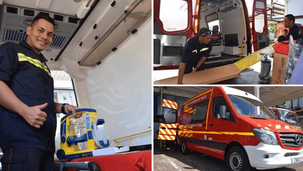nouveau véhicule pompiers faa'a
