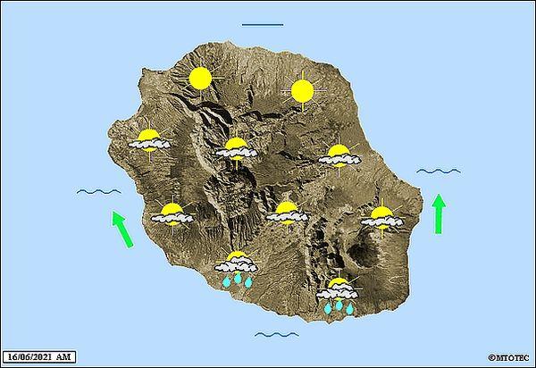 Carte météo 16 juin 2021