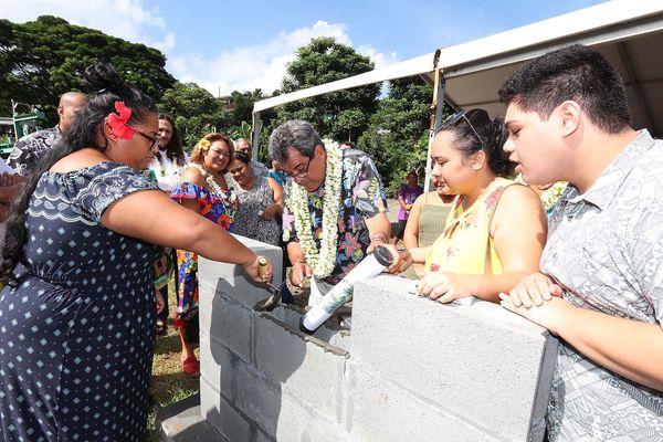 Pose de la 1ère pierre du centre d'hébergement des étudiants de l'UPF