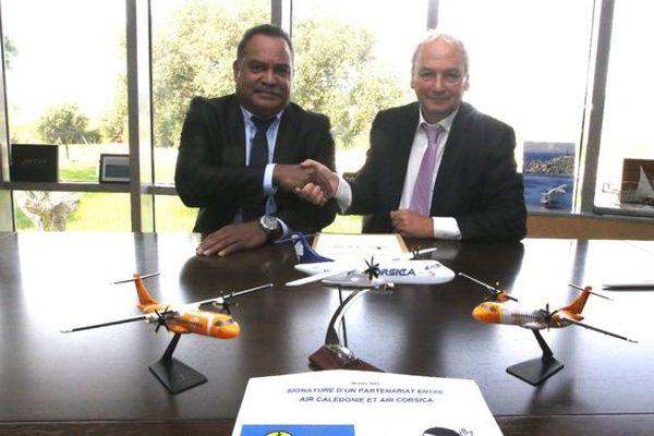 Aur calédonie signe un partenariat avec Air Corsica