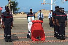 cérémonie hommage au sapeur-pompier volontaire José Moutama (samedi 14 mars 2020 à Schoelcher)