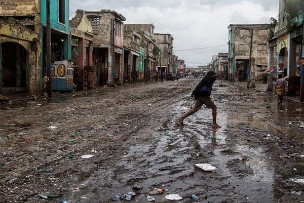 Haiti Port au prince après le passage du cyclone Matthew