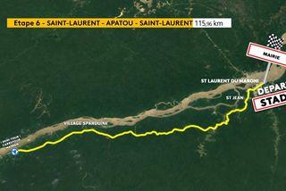 6e étape Tour de Guyane