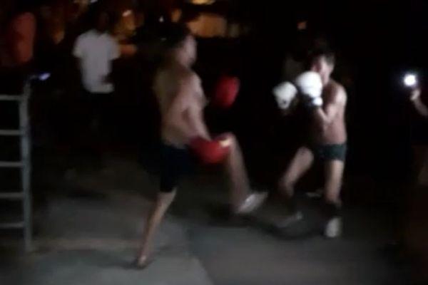 Capture vidéo combat de rue Saint-François