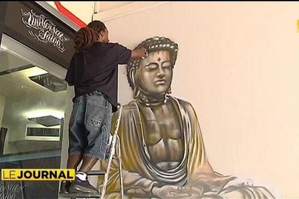 Graffeur et amoureux de la Polynésie