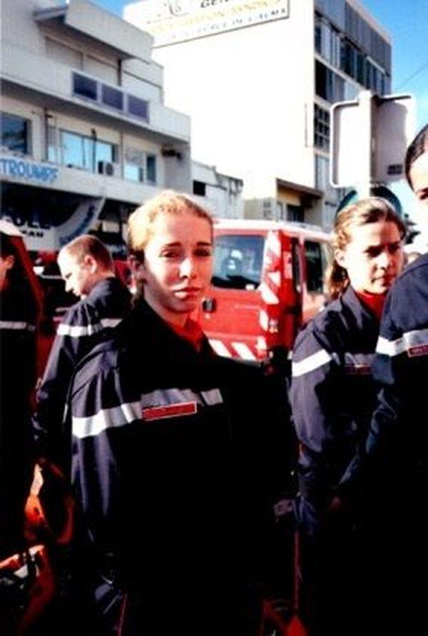 Plus jeune, la Calédonienne faisait partie des jeunes sapeurs pompiers de Nouméa