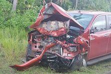 un des véhicules accidenté ce dimanche 17 juin 2018
