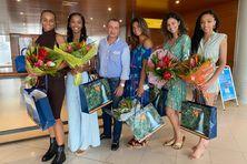 Les cinq Miss accompagnées de François Baltus-Languedoc, le directeur général du CMT.
