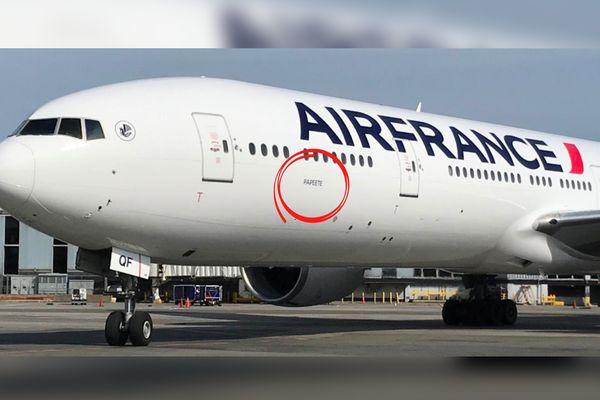 Air France baptême