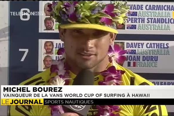 Surf : Michel Bourez impérial à Hawaii