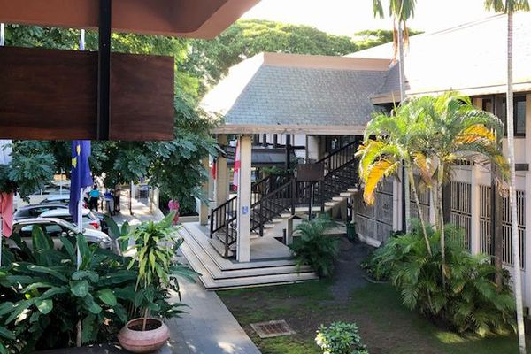 Le palais de justice de Papeete