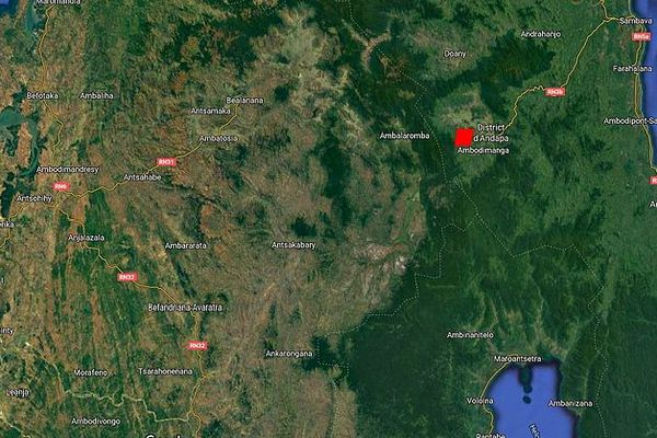 Carte du Nord de Madagascar permettant de localiser Andapa