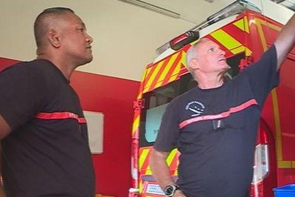 Sosefo pauvale pompier en formation en NC