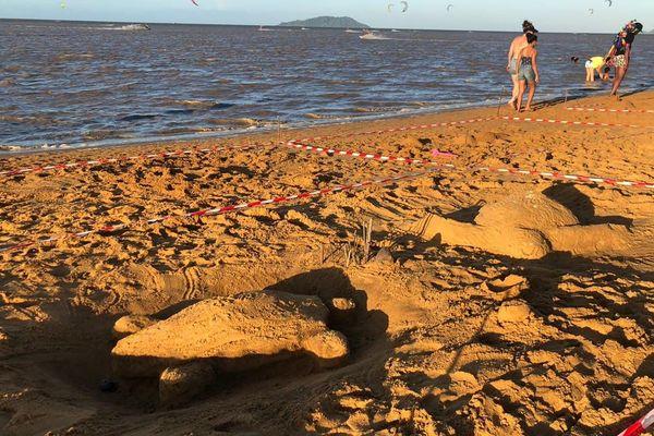 Concours de sculptures  à la plage