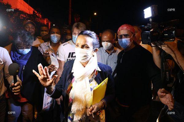 Huguette Bello au soir de sa victoire aux Régionales, vendredi 27 juin.