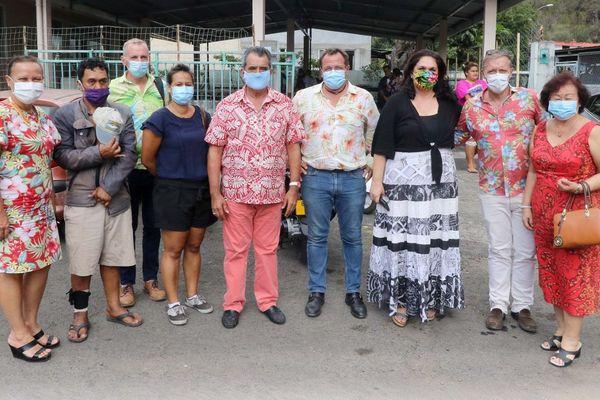 Opération masques solidaires à Pirae