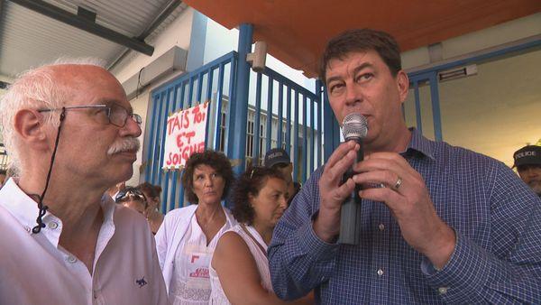 Manifestation des libéraux de santé devant la Cafat, déficit du Ruamm, suspension des paiements, avec Thierry Santa 29 novembre 2019