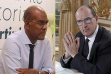 Serge Letchimy, président conseil exécutif CTM / Jean Castex Premier ministre