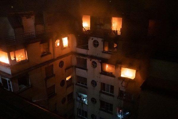 Incendie rue Erlanger Paris