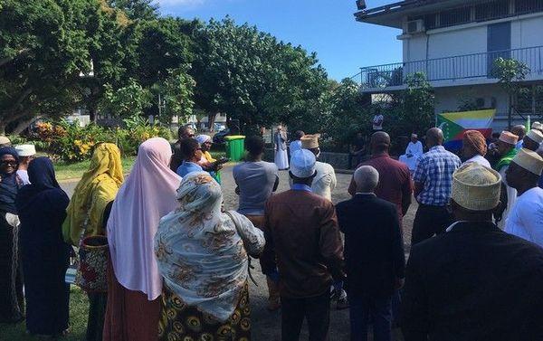 Comores rassemblement au Port des opposants de la diaspora comorienne à l'investiture du présient Azali 260519