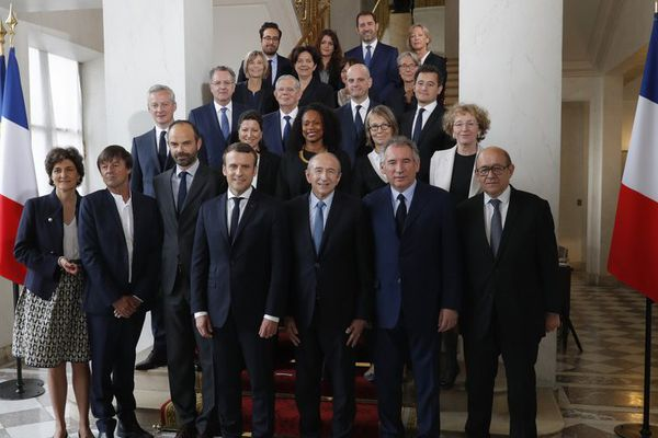 photo de famille gouvernement E.Macron