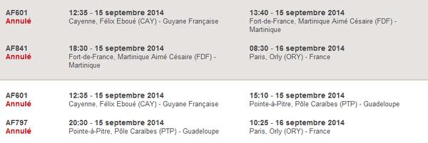 Air France Cayenne Paris