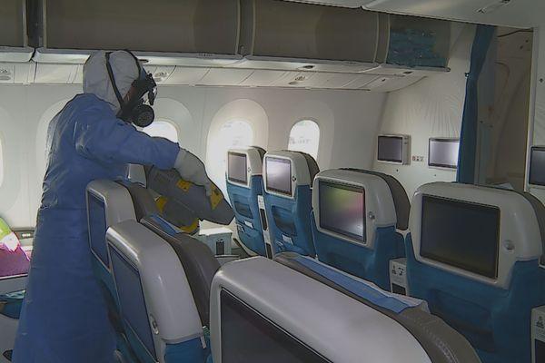 Covid-19, les avions désinfectés intégralement