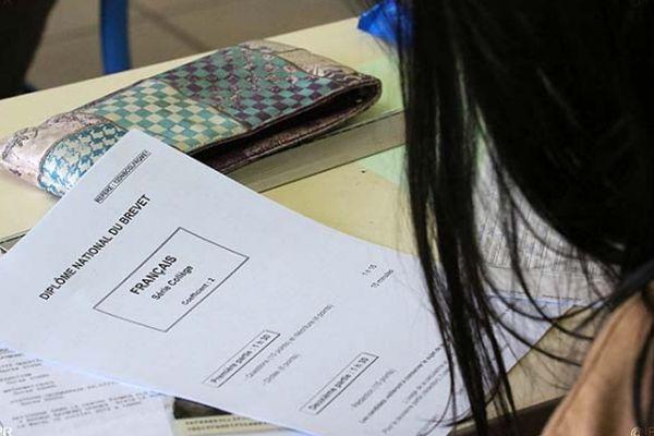 Les épreuves du brevet des collèges à La Réunion.