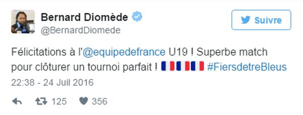 Tweet Bernard Diomède