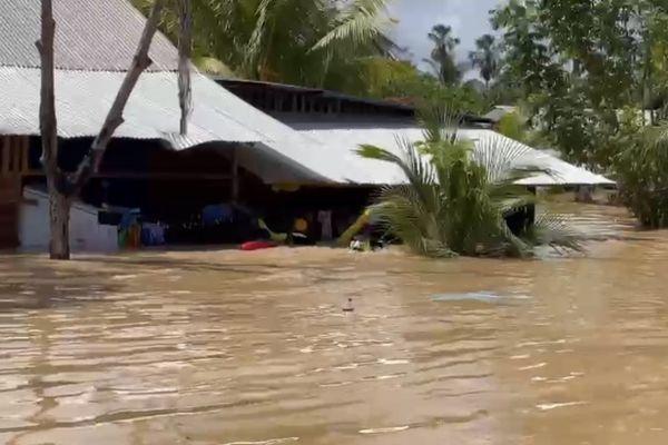 inondation dans le quartier informel Bagdad