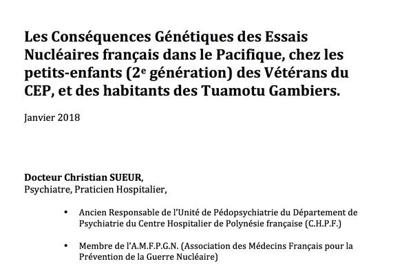 Rapport Sueur / nucléaire