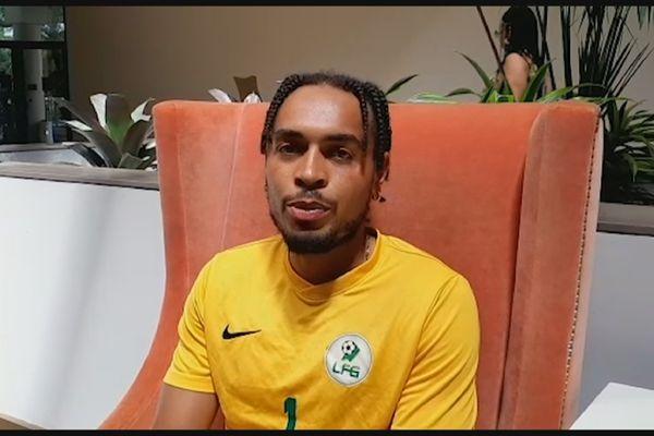 Thomas Vancaeyezeele milieu de terrain de la sélection de football de la Guyane