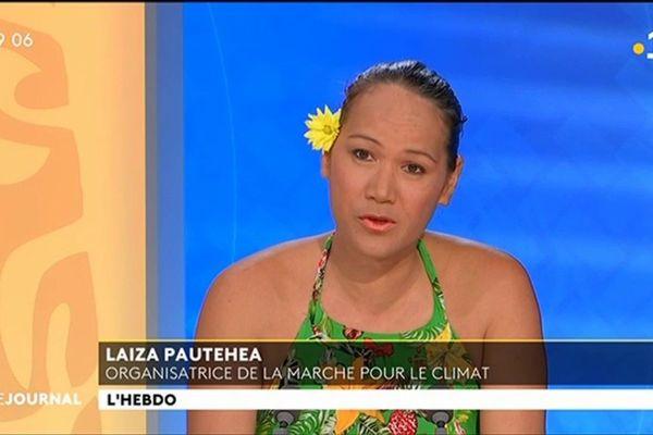Invitée du journal : Laiza Pautehea, organisatrice de l'événement « Marche pour le climat »