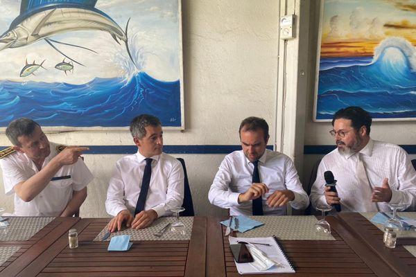Déjeuner ministres Gérald Darmanin et Sébastien Lecornu avec acteurs économiques de Mayotte