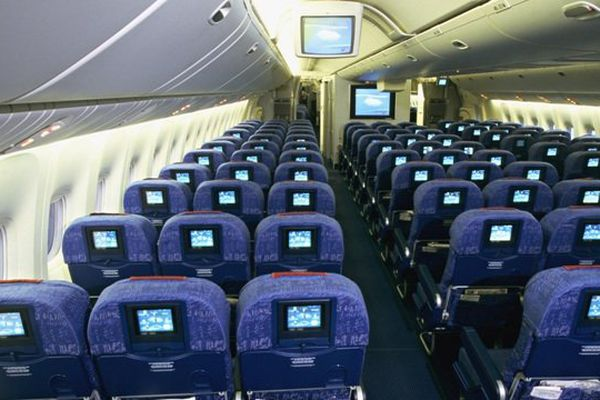 Cabine avion - illustration boeing 777