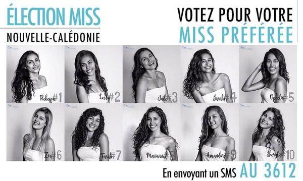Candidates miss Calédonie 2018