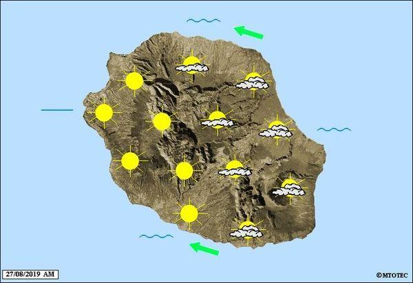 Carte météo 27 août 2019