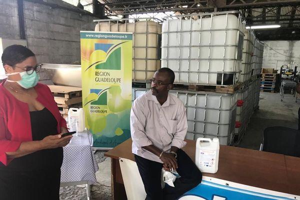 Région et entreprises hydro-alcool