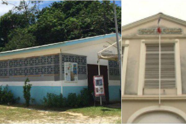 L'église de Soula à Macouria et tribunal correctionnel de Cayenne