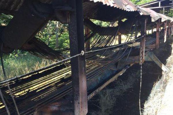 Serpentine de Kouaoua après le triple feu, 16 avril 2018