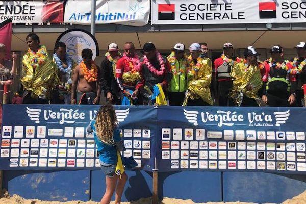 Team Tupuai à la Vendée Va'a