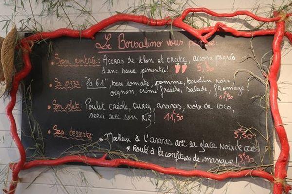 menu pizzeria St Malo