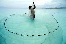 Au large de l'atoll de Tetiaroa rendu célèbre par Marlon Brando