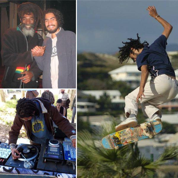 Le Calédonien a plusieurs passions dont le skate et le reggae