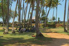 Les réfugiés installés sur le site de la pointe Buzaré à Cayenne