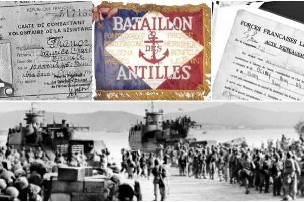 Le Bataillon des Antilles participent au débarquement de Provence, le 15 août 1944