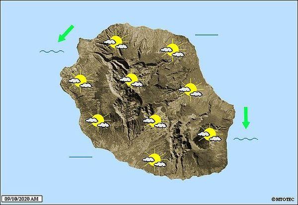 Carte météo 9 octobre 2020