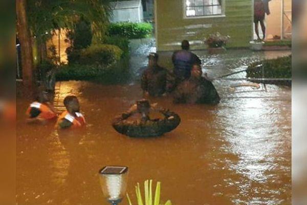 Inondation à la Barbade