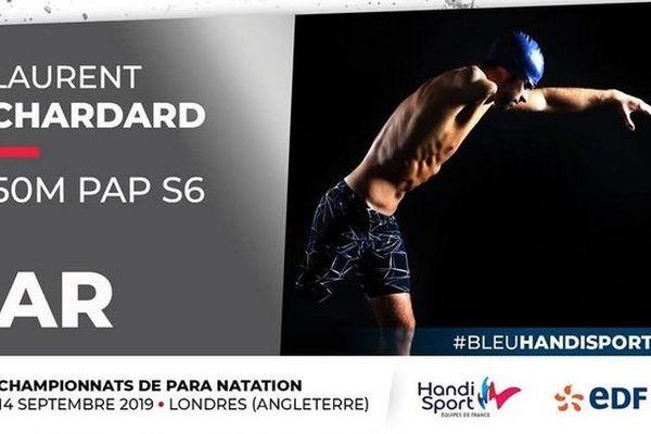 Laurent Chardard vice-champion du monde 50m papillon handisport Mondiaux de Para de Londres 2019 140919